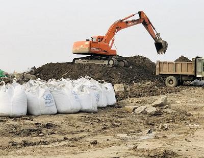 盐池路固化剂施工现场